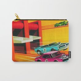 Vintage Hot Wheels Redline Dual-Lane Rod Runner Racing Poster Trade Print Carry-All Pouch