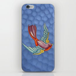 Purple Swallows iPhone Skin