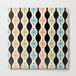 Mid Century Modern Ogee Pattern 144 Metal Print