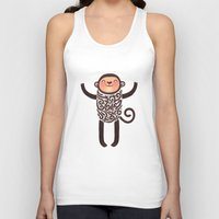 monkey island Tank Tops featuring Monkey by Anna Alekseeva kostolom3000