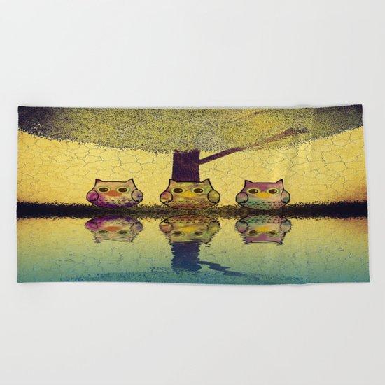 owl-892 Beach Towel
