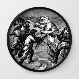 Battle with Animals Wall Clock