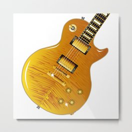 Maple Top Guitar Metal Print