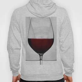 Red wine and naked woman Hoody