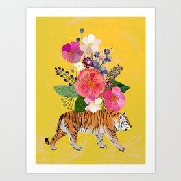 Tiger Bloom Art Print