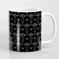 because cats Mugs featuring Cats Cats Cats by Tobe Fonseca