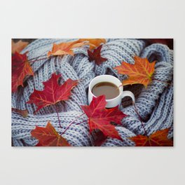 autumn coffee Canvas Print