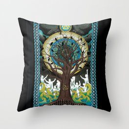 Ode to Odin Throw Pillow