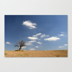 Clouds and tree... Canvas Print