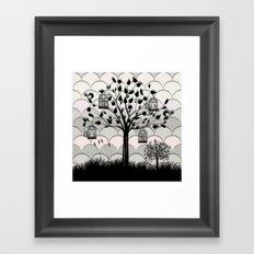 Paper landscape B&W Framed Art Print