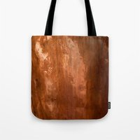 copper Tote Bags featuring copper by gaus
