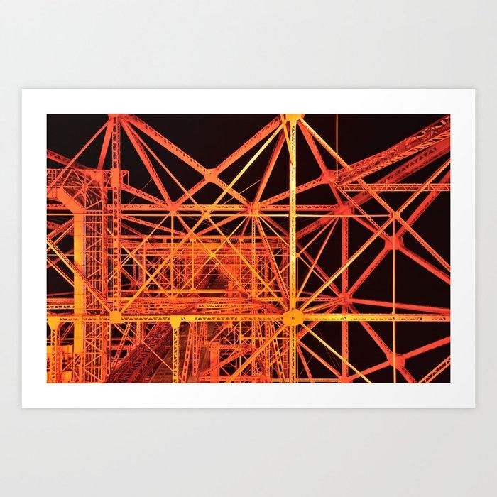 Tokyo Tower Details 1 Art Print