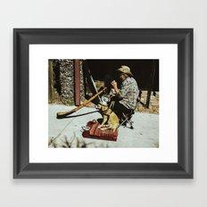 Didgeridoo and Dog Framed Art Print