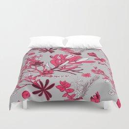 Fuchsia Cradle Flora Duvet Cover