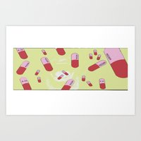 pills Art Prints featuring Pills  by The Amazing Bean