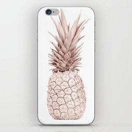 Pineapple Rose Gold iPhone Skin