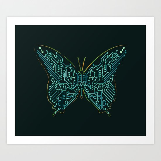 Mechanical Butterfly Art Print