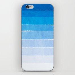 Blue Ombre Brushstroke - Summer, Beach, Ocean, Water, LA Cute trendy, painterly art iPhone Skin