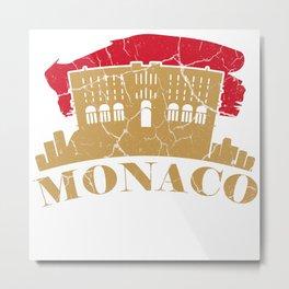 Monaco French Côte d'Azur gift monarchy Metal Print