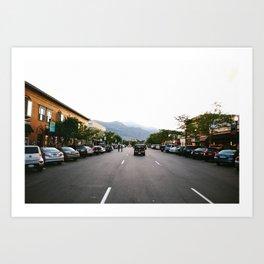 The Roads of Colorado Springs 1/4 Art Print