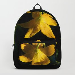 Glacier National Park, Glacier Lilies, Botanical Photography, Floral Print, Yellow Flowers Backpack