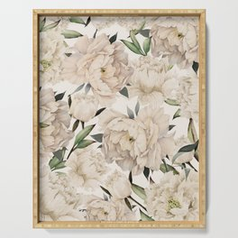 Peonies Pattern Serving Tray