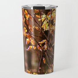 Golden leaves in February Travel Mug
