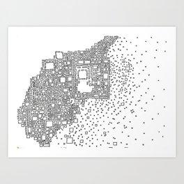 Eroding City Art Print