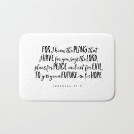 Jeremiah 29:11 - Bible Verse Bath Mat