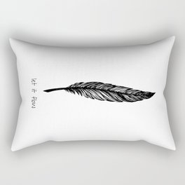 Feather and Quote no.1 Rectangular Pillow
