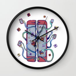 Handsy Smart Phone by Maisie Cross Wall Clock