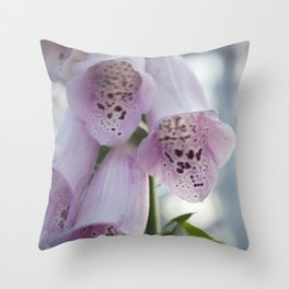 Purple Foxgloves Throw Pillow