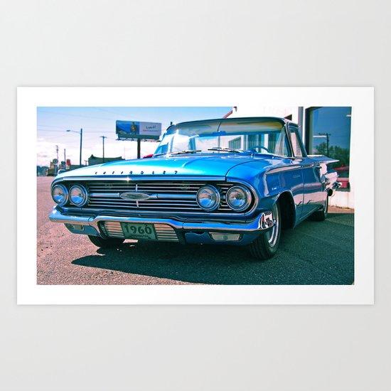 El Camino blue Art Print