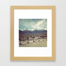 Eastern Sierras from Manzanar Framed Art Print