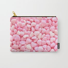 Pink Candy Hearts Carry-All Pouch