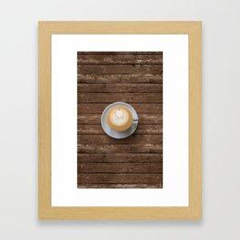 Coffee & Wood Framed Art Print