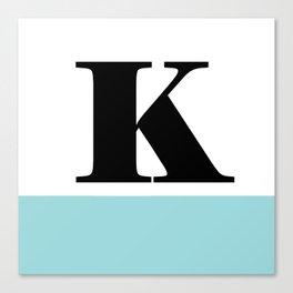 Monogram Letter K-Pantone-Limpet Shell Canvas Print