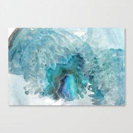 Blue Aqua Agate Canvas Print
