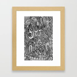 You are loved doodle Framed Art Print
