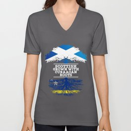 Scottish Grown With Curaaoan Roots Unisex V-Neck