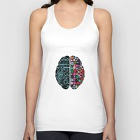 brain Tank Tops featuring Brain by BlueLela