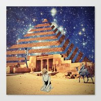 pyramid Canvas Prints featuring Pyramid by Cs025