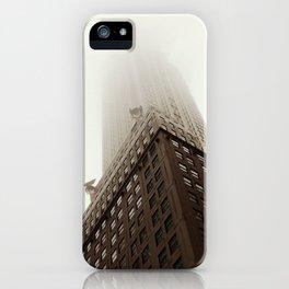Foggy Chrysler Building iPhone Case