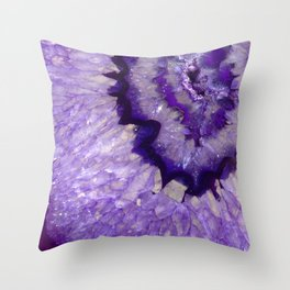 Purple Crystal Throw Pillow