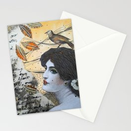 Romantic Lady Stationery Cards