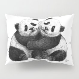 Panda's Hugs G143 Pillow Sham