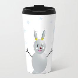 Rabbit Snowman Travel Mug