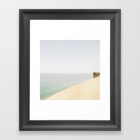 Pier 9 Lake Michigan Dune Framed Art Print