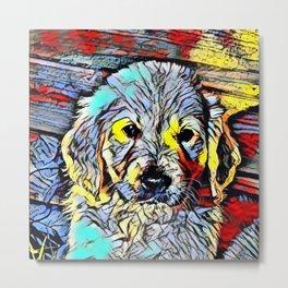 Color Kick - Puppy Metal Print