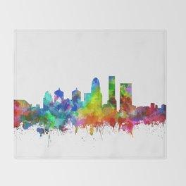 louisville skyline watercolor Throw Blanket